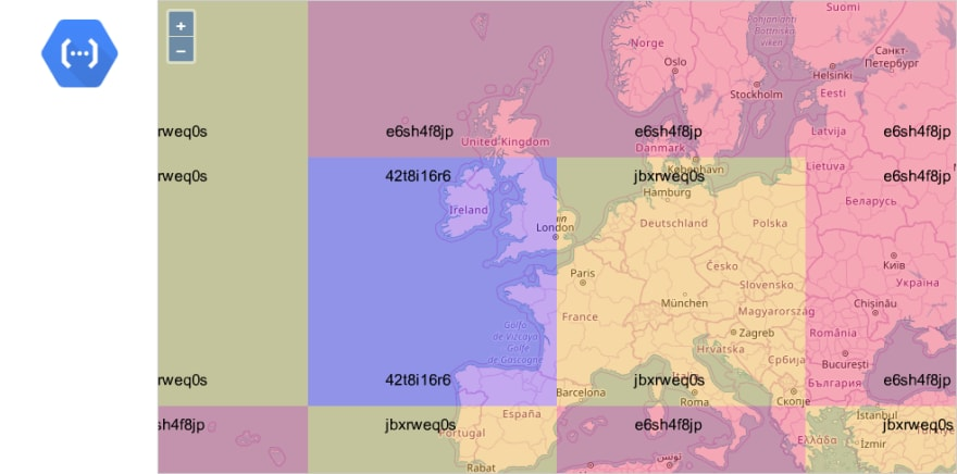 GCP Map Colored