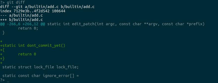 Git add patch