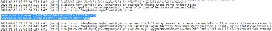 Login credentials in the log file