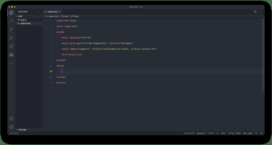 blank html