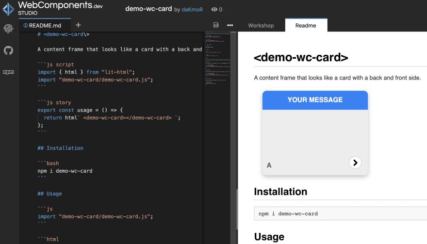 webcomponent.dev screenshot