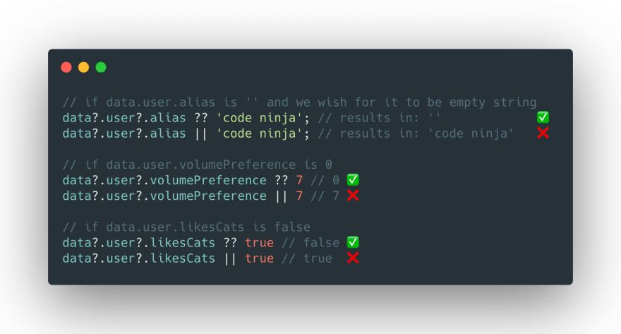Why falsy values are bad for Logical or operator and we should use Null Coalescing
