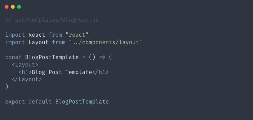 Starter template for BlogPost.js