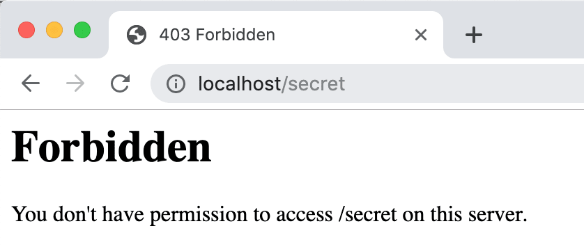 Verbose Errors in Secret Page are blocked at PL2