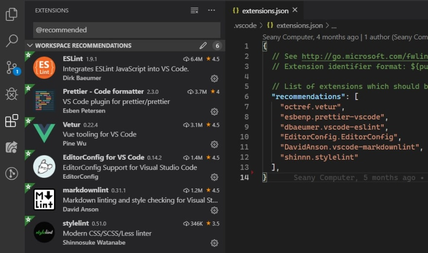 Extensions in VS Code