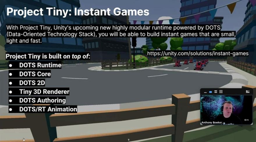 End3r's Corner - W3C Games CG April 2021: Unity Tiny
