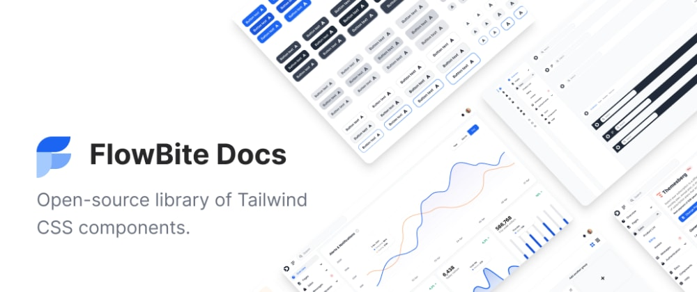 Cover image for FlowBite - Tailwind CSS Components Library
