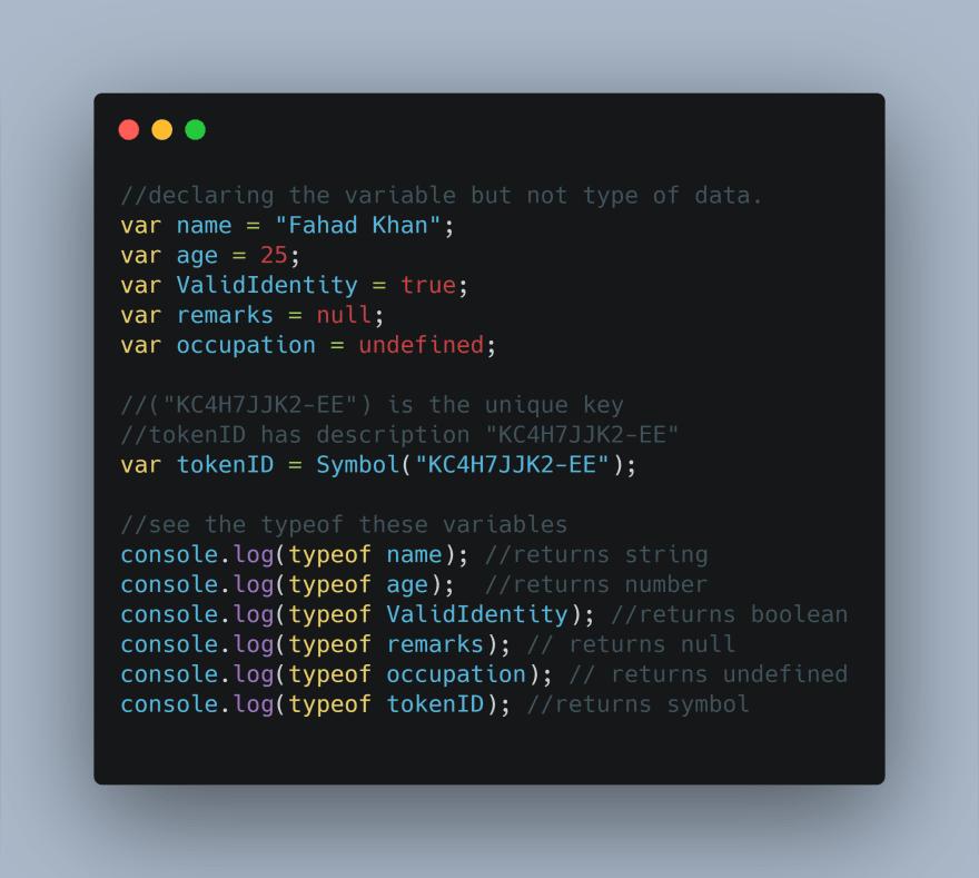 Alt declaring the variables in JavaScript