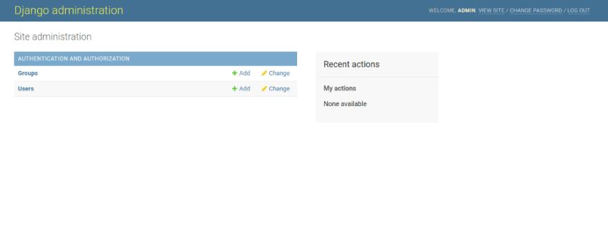 django admin dashboard