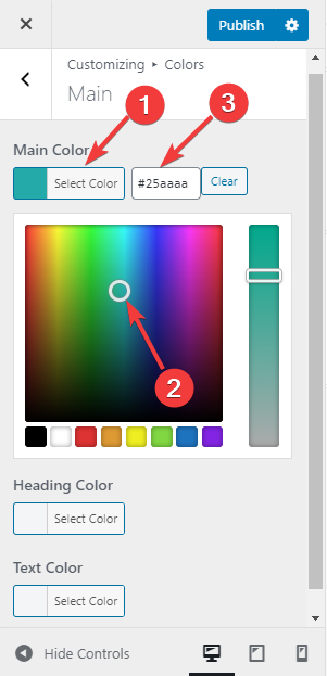 Customize the color of your theme.