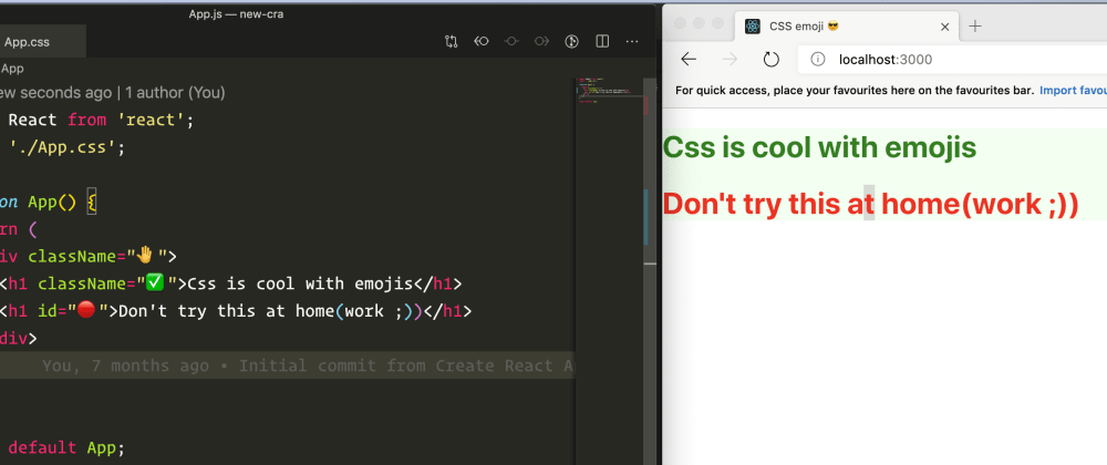 Cover image for Use emoji as CSS Selector 😎💅