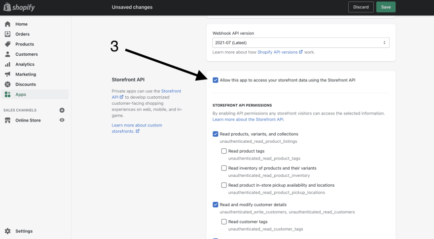 Storefront API Shopify
