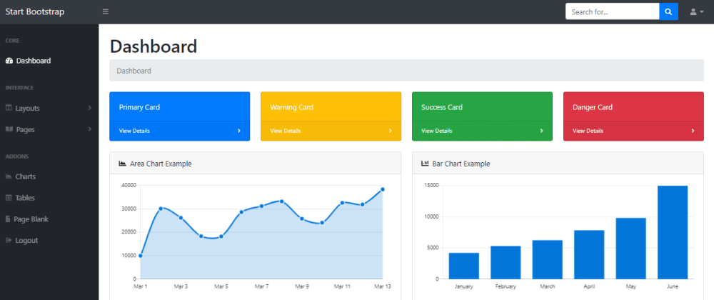 Cover image for Sb Admin - Free Flask Dashboard