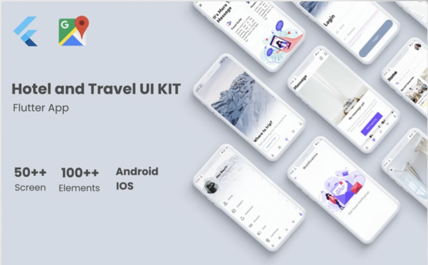 Flutter Hotel and Tour Template Flutter