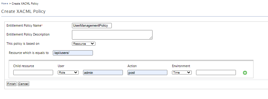 Simple Policy Editor