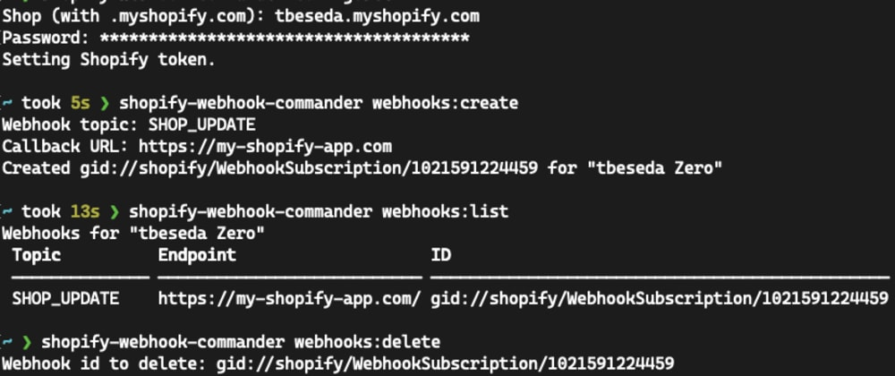 Cover image for CLI for Managing Shopify App Webhooks