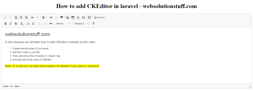 How To Add Ckeditor In Laravel