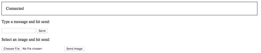 Sample JavaScript-enabled client for testing the WebSocket server.