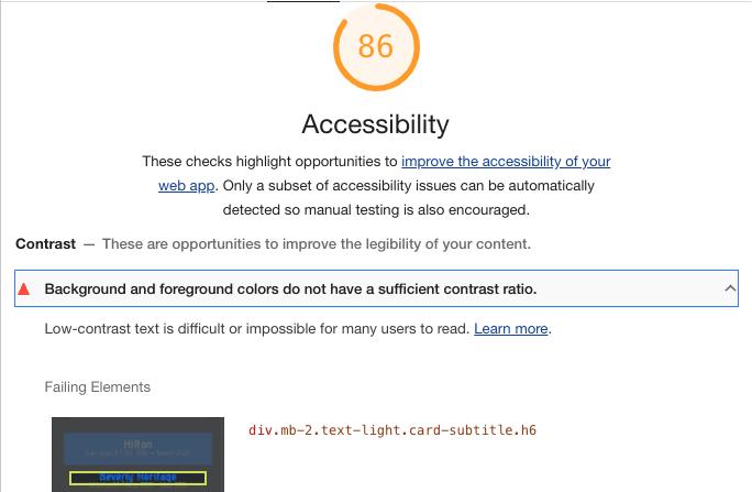 Accessibility breakdown