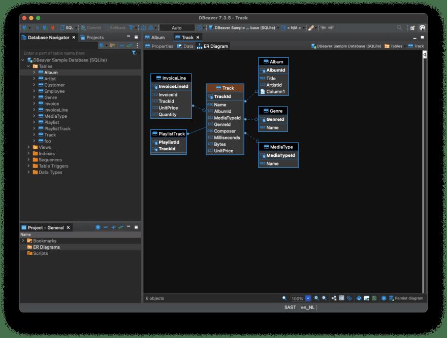 DBeaver MySQL client for Mac