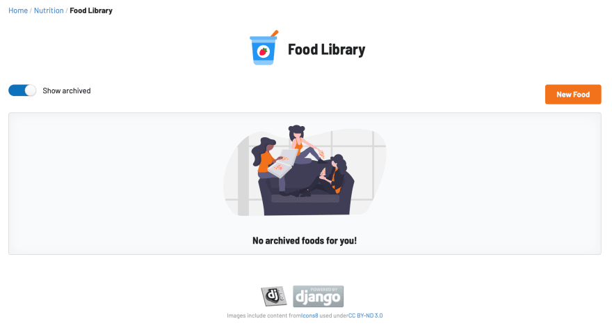 LifeKnifeX food library - empty