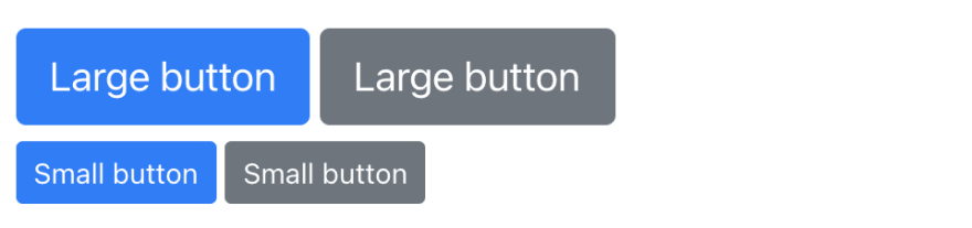 Buttons created with React Bootstrap