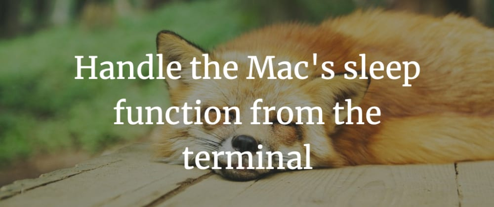 Cover image for Handle the Mac's sleep function from the terminal