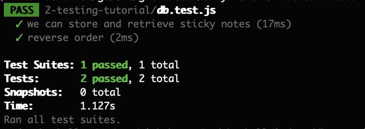 Both tests now pass in the command line