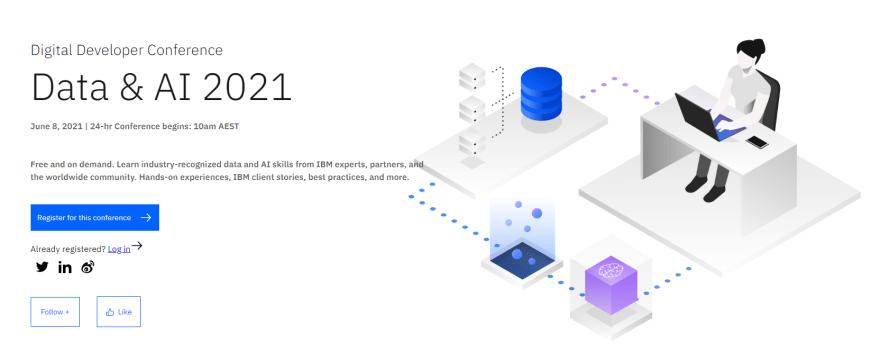 Data & AI 2021 Developer Conference