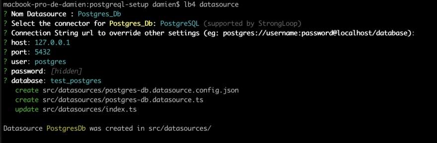 Creating the datasource
