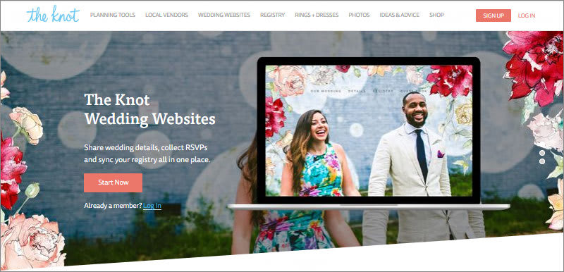 The Knot Free Wedding Website Builder
