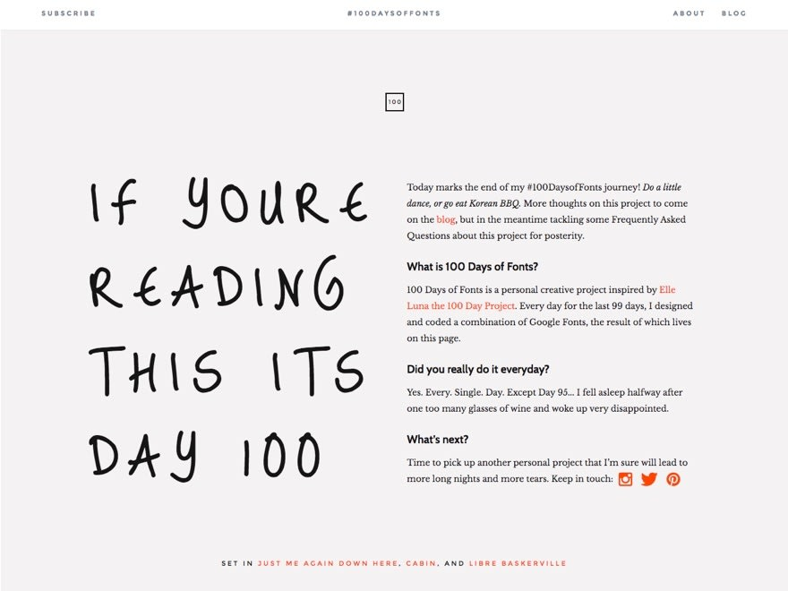 100 Days of Fonts