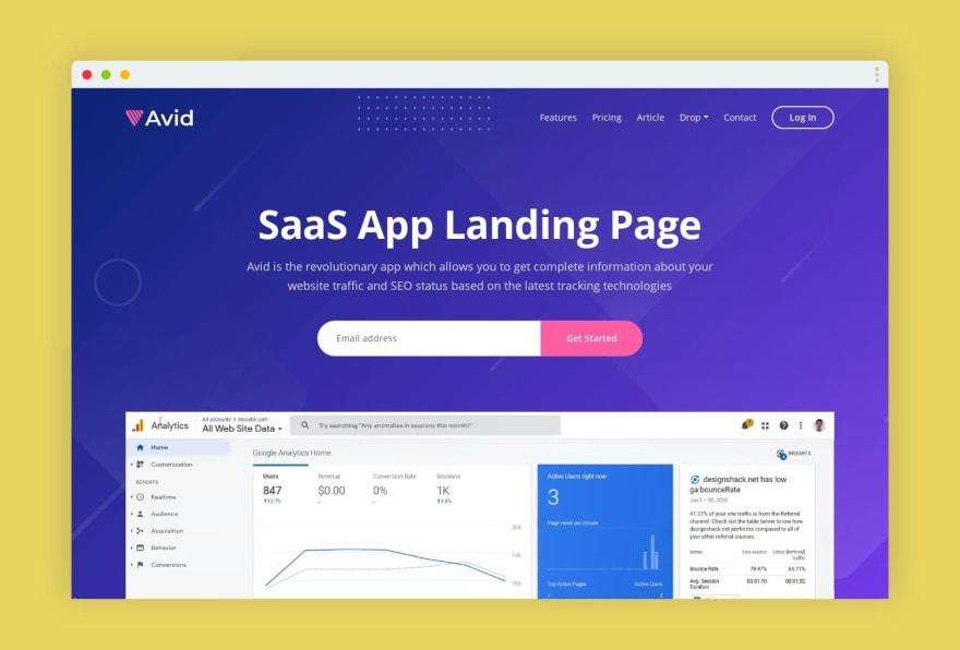 Avid HTML Template