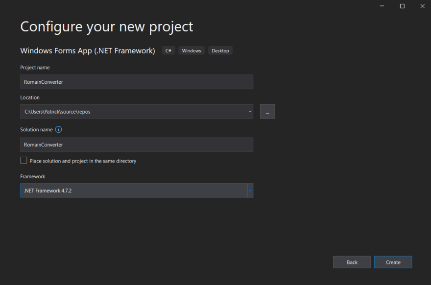Configure CSharp app