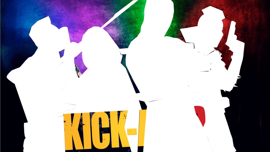 Move poster of main characters from Kick Ass 2 with hotspot paths