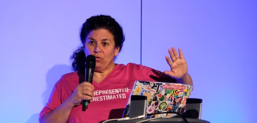 Estelle speaking