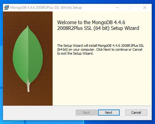 Mongo installation screen
