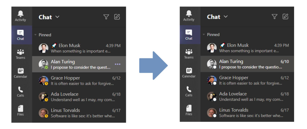 Cover image for Hiding Microsoft Teams status icons