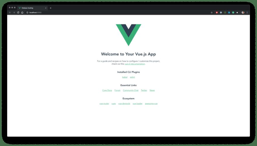A brand new Vue.jsproject