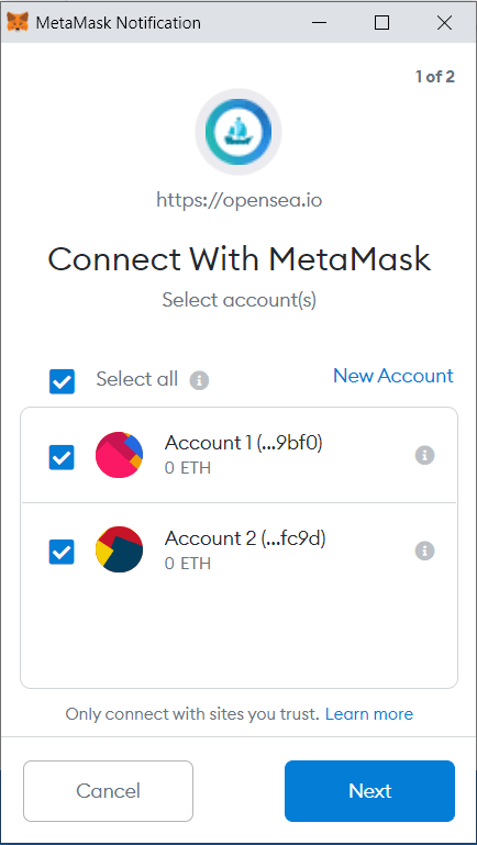 Metamask connect multiple accounts