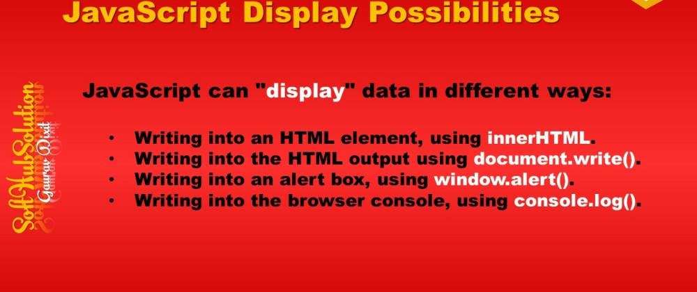 Cover image for JavaScript Display Posibilities