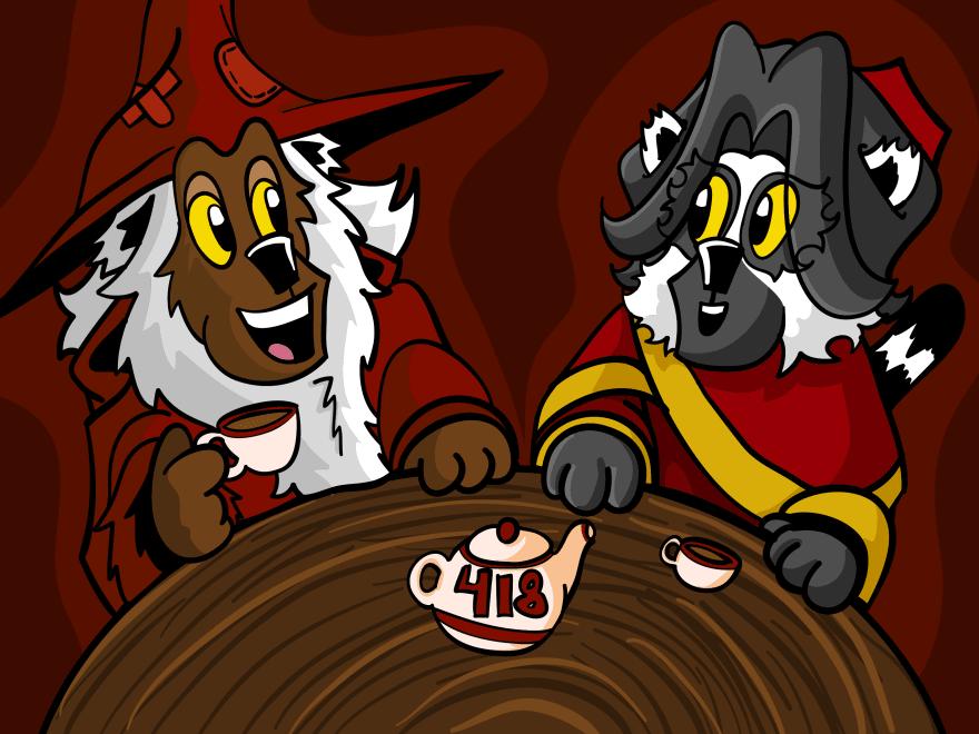 Crimson and Scarlet talking