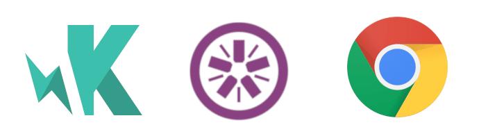 Karma, Jasmine and Chrome logos