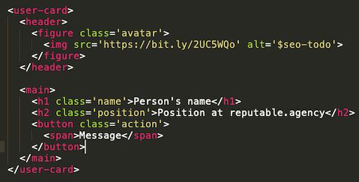 regular ol html