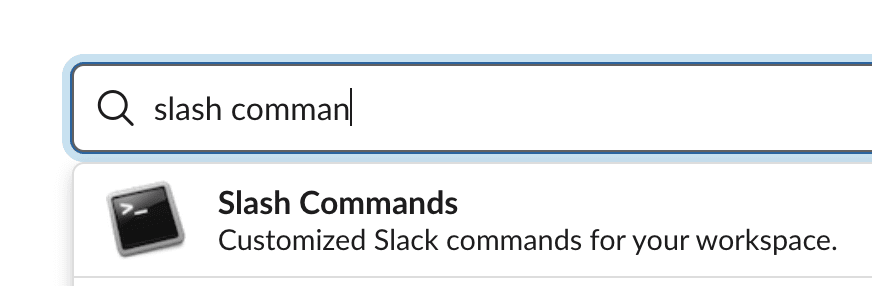 Slash Command Search