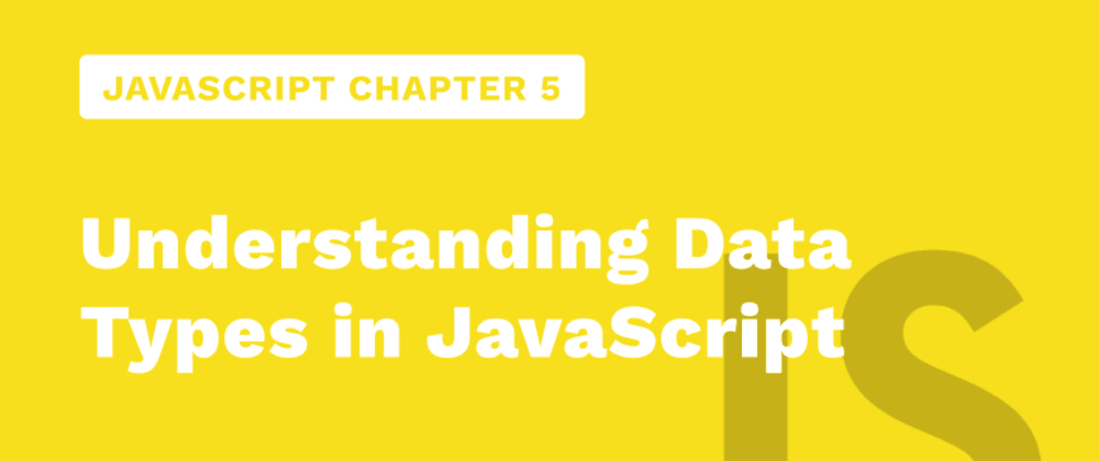Cover image for JavaScript Chapter 5 - Understanding Data Types in JavaScript