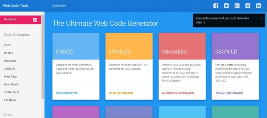 Webcode tools