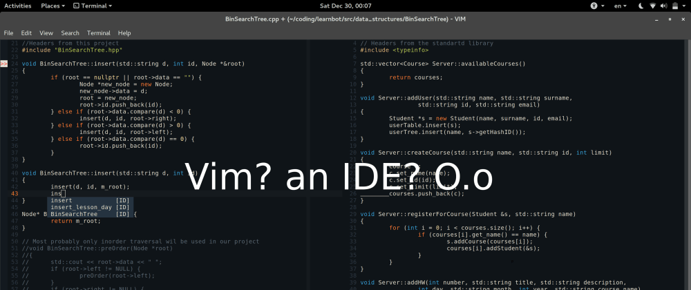 Cover image for Vim, the best tool for Programmers