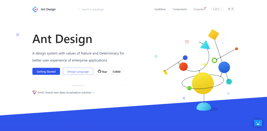 Ant Design landing page