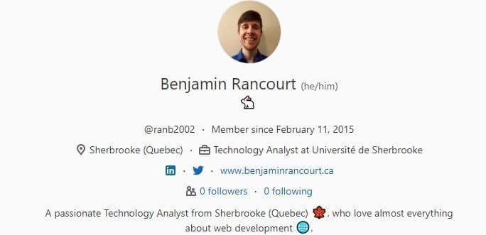 Screenshot of a GitLab profile